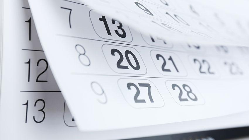 Photo of calendar